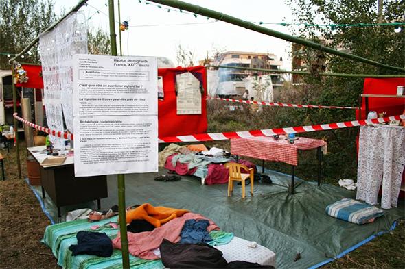 Reconstitution d'un habitat migrant, France XXI siècle
