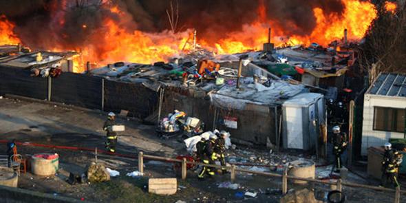 Incendie camp Rom, Bobigny, 12 février 2014